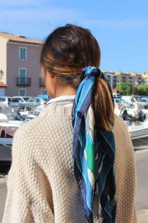 foulard coiffure cheveux